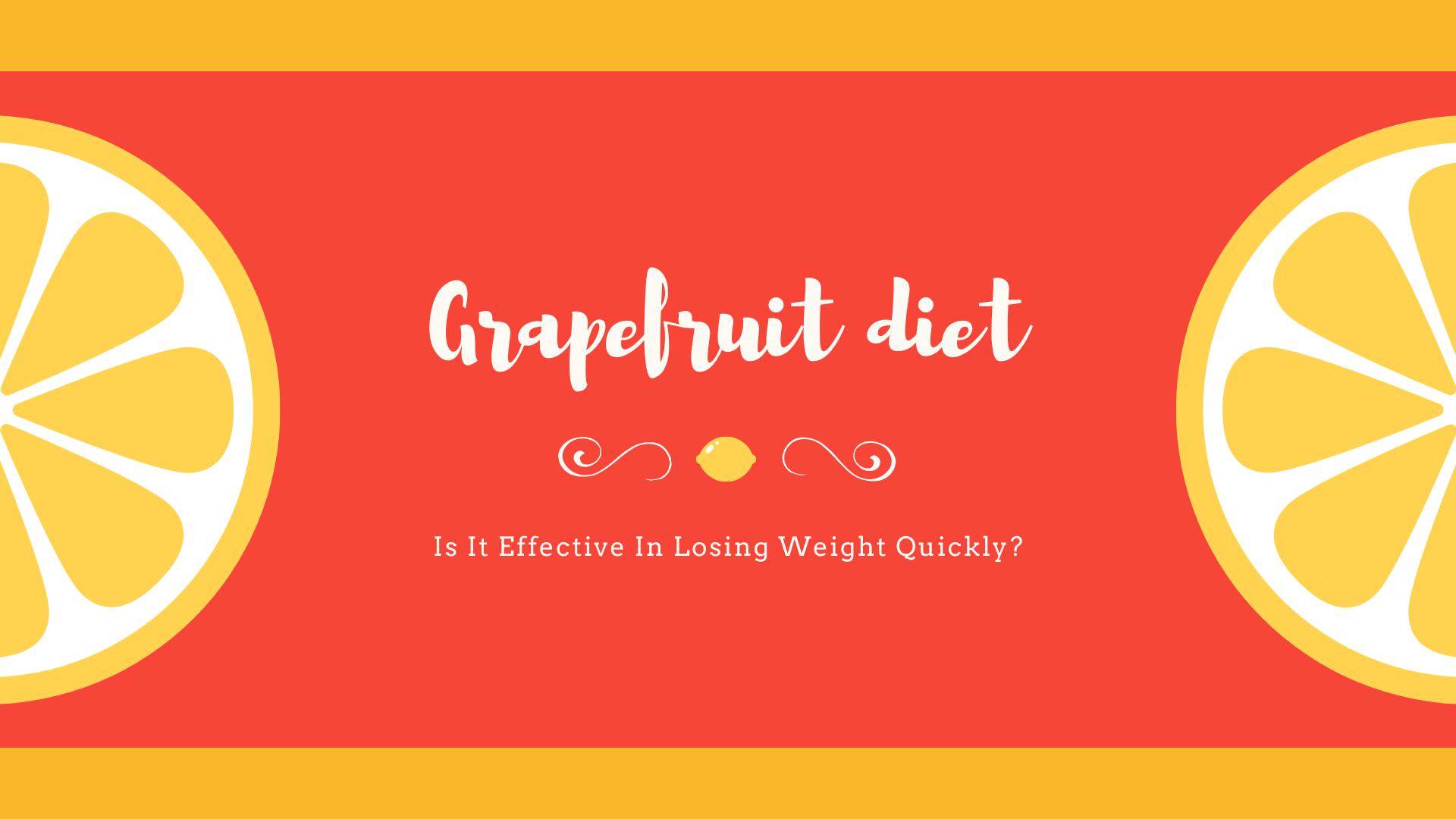 grapefruit diet study