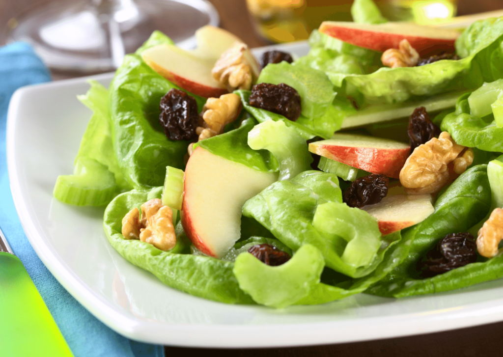 Waldorf salad with raisins