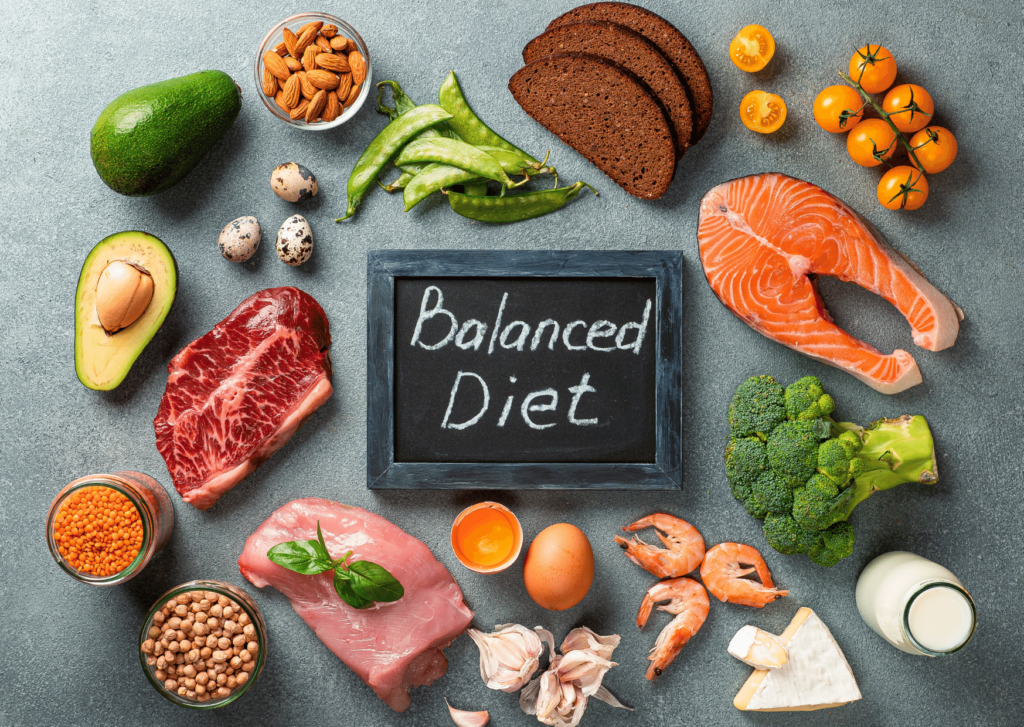 Bariatric vitamins and a balanced diet