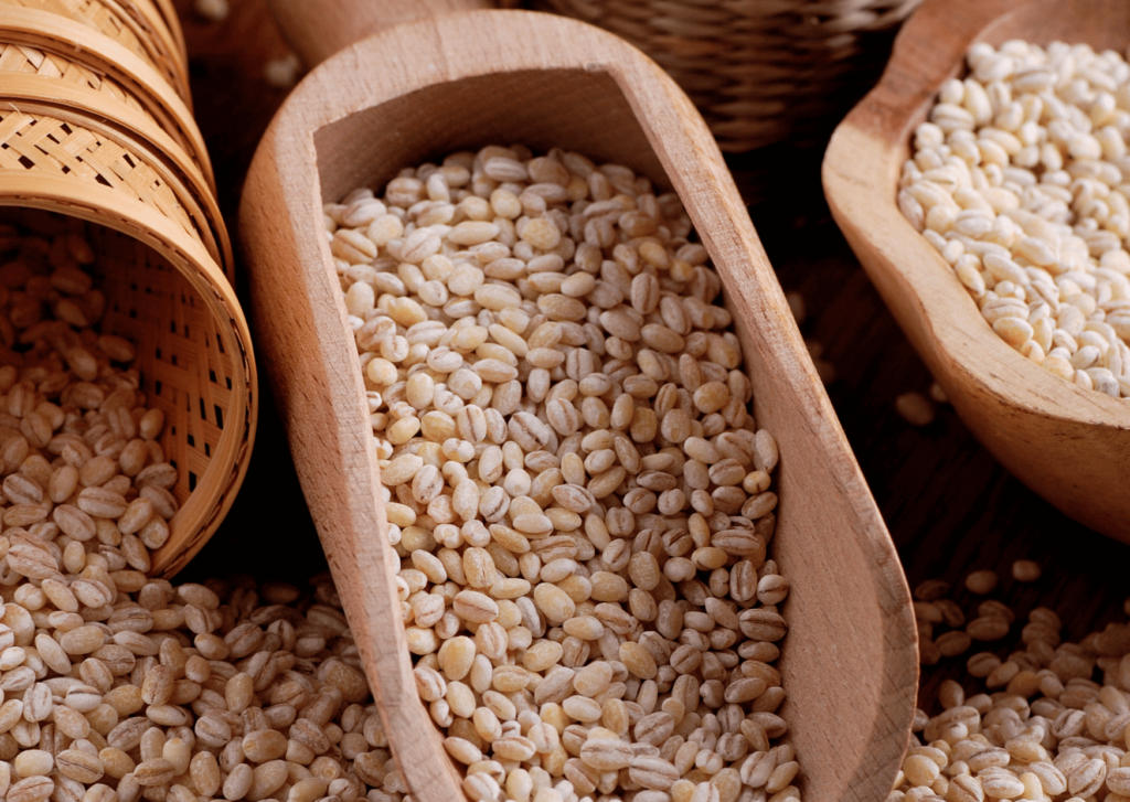 Pearl barley soluble fiber content