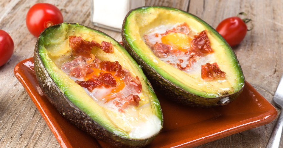 Baked avocado with egg filling